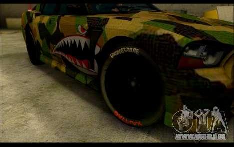 Bravado Buffalo Camo Shark Mouth für GTA San Andreas rechten Ansicht