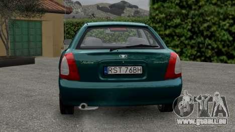 Daewoo Nubira I Hatchback CDX 1997 pour GTA 4 est un droit