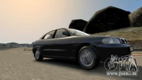 Daewoo Nubira I Hatchback CDX 1997 pour GTA 4 est une vue de dessous