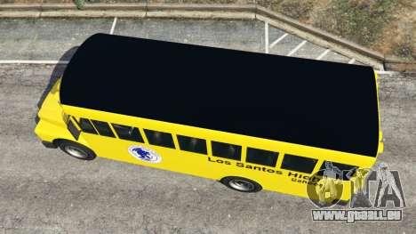 GTA 5 Classique autobus scolaire vue arrière