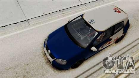 Volkswagen Golf R32 NFSMW05 Sonny PJ pour GTA San Andreas vue de côté