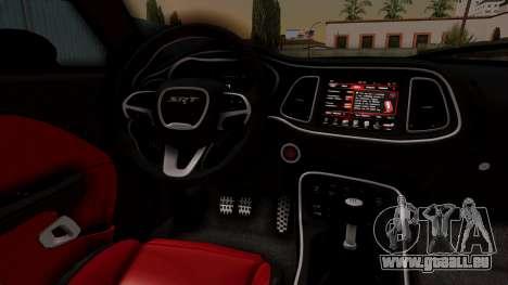 Dodge Challenger SRT Hellcat 2015 IVF pour GTA San Andreas vue de droite