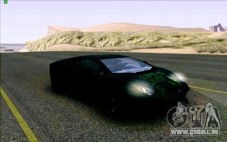 Lamborghini Aventador LP-700 Razer Gaming pour GTA San Andreas vue arrière