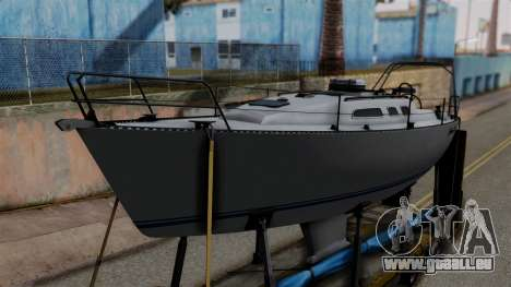 Overweight Trailer Yellow pour GTA San Andreas vue de droite