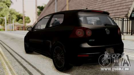 Volkswagen Golf R32 NFSMW05 Sonny PJ pour GTA San Andreas laissé vue