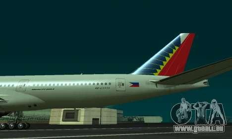 Boeing 777-200LR Philippine Airlines pour GTA San Andreas vue de droite