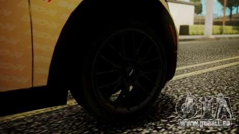 Mini Cooper Clubman 2011 K-ON Ritsu Itasha pour GTA San Andreas sur la vue arrière gauche