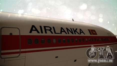 Lockheed L-1011 Air Lanka für GTA San Andreas Rückansicht