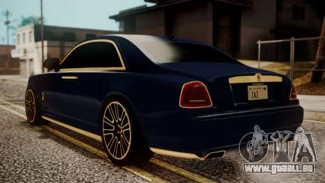 Rolls-Royce Ghost Mansory v2 pour GTA San Andreas laissé vue