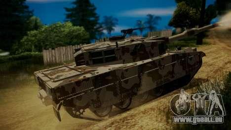 GTA 5 Rhino Tank für GTA San Andreas zurück linke Ansicht