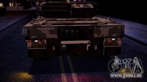 GTA 5 Rhino Tank IVF für GTA San Andreas Rückansicht