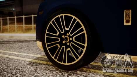 Rolls-Royce Ghost Mansory v2 für GTA San Andreas zurück linke Ansicht
