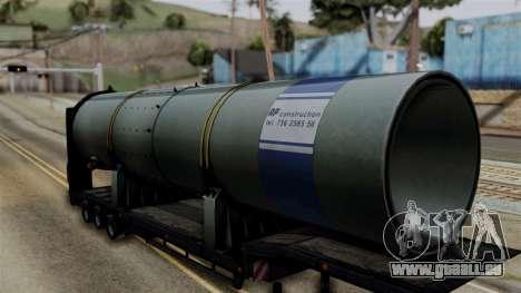 Overweight Trailer Black für GTA San Andreas zurück linke Ansicht