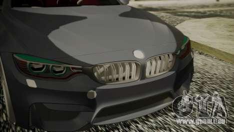 BMW M4 Coupe 2015 Carbon pour GTA San Andreas vue de droite