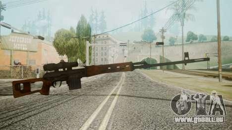 SVD Battlefield 3 für GTA San Andreas