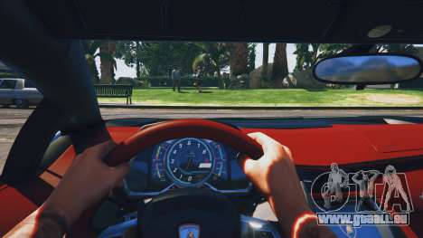 GTA 5 Lamborghini Aventador Police Rückansicht