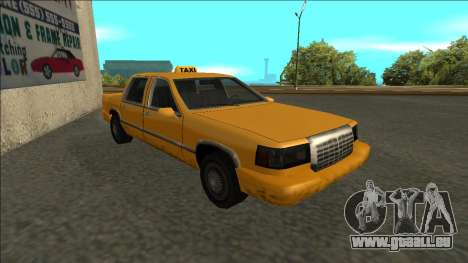 Stretch Sedan Taxi pour GTA San Andreas laissé vue