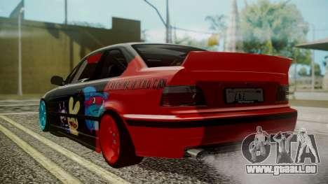 BMW M3 E36 Happy Drift Friends pour GTA San Andreas laissé vue