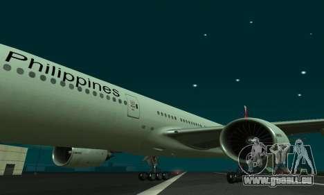Boeing 777-200LR Philippine Airlines pour GTA San Andreas laissé vue