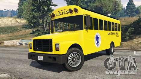 GTA 5 Classique autobus scolaire droite vue latérale