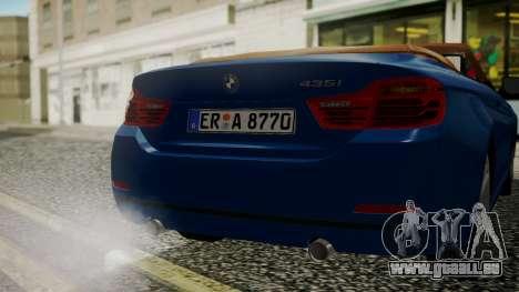BMW M4 F32 Convertible 2014 pour GTA San Andreas vue de côté