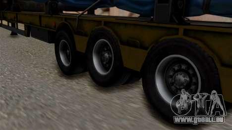 Overweight Trailer Yellow pour GTA San Andreas sur la vue arrière gauche