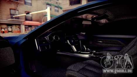BMW 4 Series Coupe M Sport pour GTA San Andreas vue de dessus