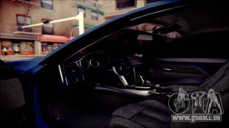 BMW 4 Series Coupe M Sport für GTA San Andreas obere Ansicht