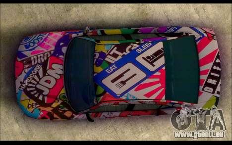 Bravado Buffalo Sticker Bom für GTA San Andreas rechten Ansicht