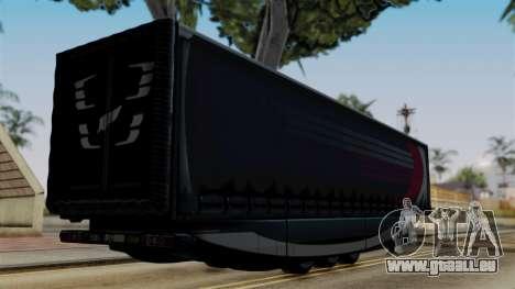 Aero Dynamic Trailer Stock pour GTA San Andreas laissé vue