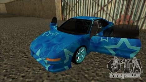 Toyota MR2 Drift Blue Star für GTA San Andreas Rückansicht
