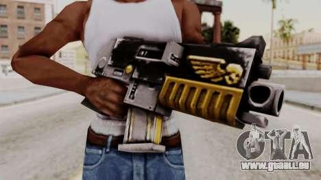 Un bolter de Warhammer 40k pour GTA San Andreas troisième écran