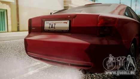 Toyota Celica SS2 Tunable pour GTA San Andreas vue arrière