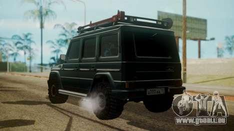 Mercedes-Benz G500 Off-Road pour GTA San Andreas laissé vue