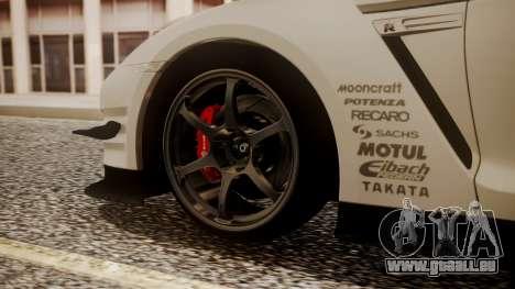 Nissan GT-R R35 2012 v2 pour GTA San Andreas sur la vue arrière gauche