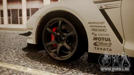 Nissan GT-R R35 2012 v2 für GTA San Andreas zurück linke Ansicht