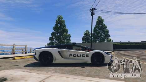 GTA 5 Lamborghini Aventador Police linke Seitenansicht