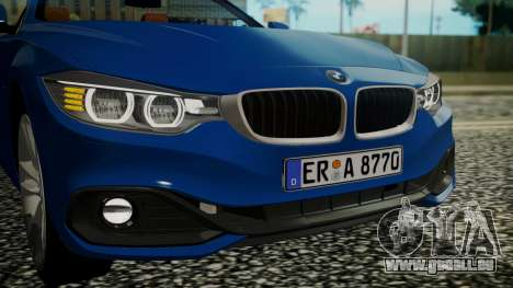BMW M4 F32 Convertible 2014 pour GTA San Andreas vue intérieure