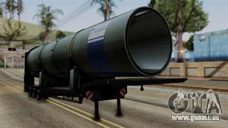 Overweight Trailer Black für GTA San Andreas