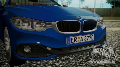 BMW M4 F32 Convertible 2014 pour GTA San Andreas vue arrière