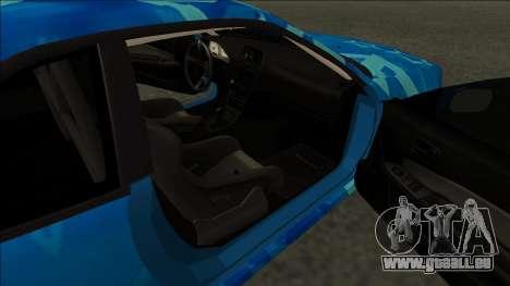 Nissan Skyline R34 Drift Blue Star pour GTA San Andreas sur la vue arrière gauche