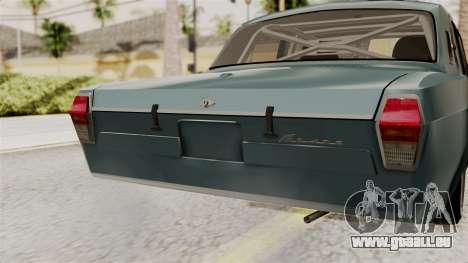 Le réchaud à GAZ 24 pour GTA San Andreas vue arrière