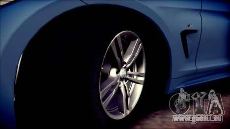 BMW 4 Series Coupe M Sport pour GTA San Andreas vue de côté