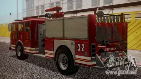 GTA 5 MTL Firetruck pour GTA San Andreas laissé vue