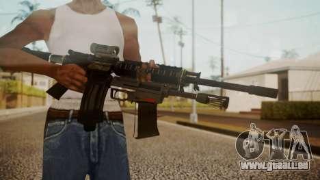 M4 with M26 Mass pour GTA San Andreas troisième écran