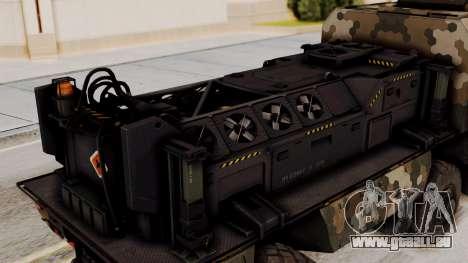 La tempête (de l'appareil) pour GTA San Andreas vue arrière