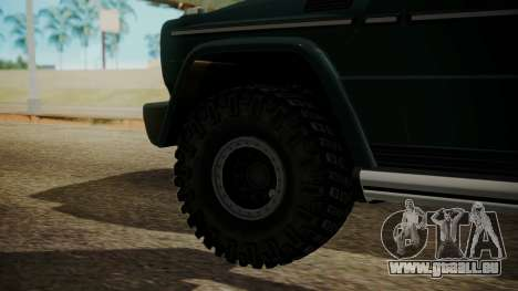 Mercedes-Benz G500 Off-Road für GTA San Andreas zurück linke Ansicht