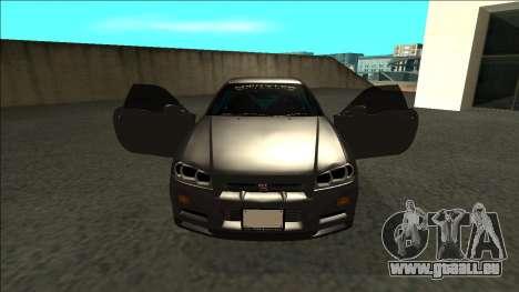 Nissan Skyline R34 Drift Monster Energy pour GTA San Andreas vue intérieure
