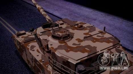 GTA 5 Rhino Tank IVF pour GTA San Andreas sur la vue arrière gauche