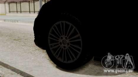 Volkswagen Golf R32 NFSMW05 Sonny PJ pour GTA San Andreas sur la vue arrière gauche